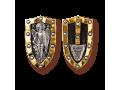 Архангел Михаил нательная иконка щит артикул 8229