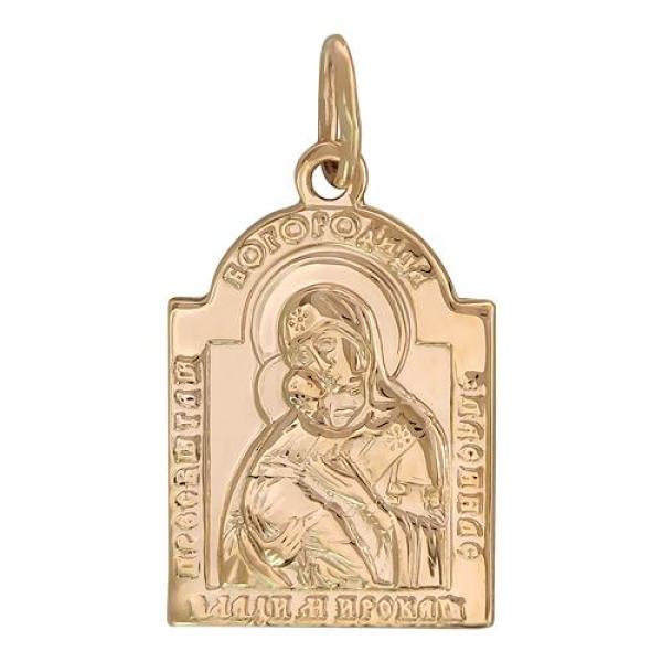 Божья Матерь Владимирская нательный образок арт 01П050478А
