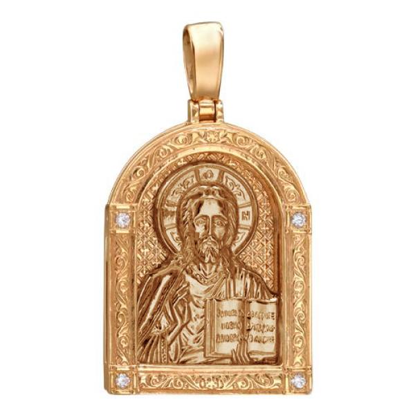 Икона Господь Вседержитель нательный образок (арт. 01П150486А)