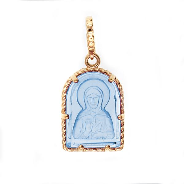 Икона Матрона Московская нательный образок (арт. 01П213478-2)