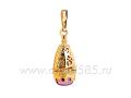 Казанская икона Божией Матери нательная иконка ладанка из золота артикул 300044