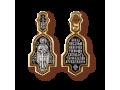Святой благоверный князь Александр Невский нательный образок артикул 8093