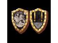 Великомученик Георгий Победоносец нательная иконка в форме щита артикул 8114