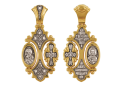 Подвеска: Хризма Православный крест Владимирская икона Божией Матери Святитель Николай Образок