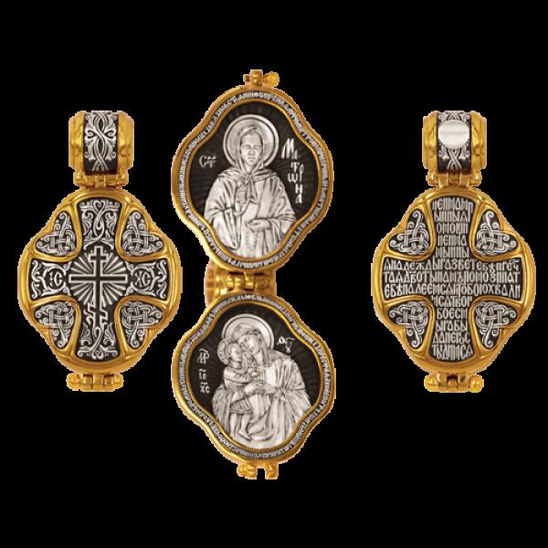 Восьмиконечный крест Молитва Богородице Иконы Блаженной Матроны и Божией Матери Взыскание погибших Мощевик