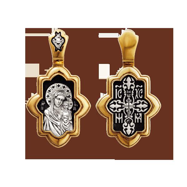 Казанская икона Божией Матери нательный образок артикул 8038