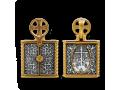 Господь. Казанская икона Божией Матери. Николай. Складень
