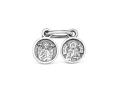 Слезка Богородицы серебряная подвеска с Матроной Московской и Ангелом Хранителем