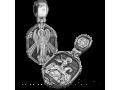 Св Георгий Победоносец и Ангел Хранитель ПДС 094 нательная иконка из серебра