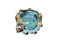 Кольцо Ангел у озера голубой кварц золотое (арт.578.14.22)