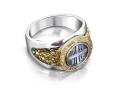 Кольцо православное 50-тый Псалом бриллианты (арт.874.05.08.62)
