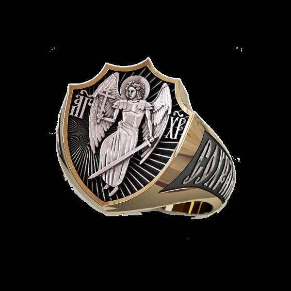 Позолоченный перстень Ангел-хранитель