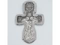 Крест православный «Крещение Господне» серебряный с родиевым покрытием