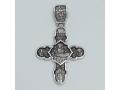Крест православный «Успение Пресвятой Богородицы» серебро с родием