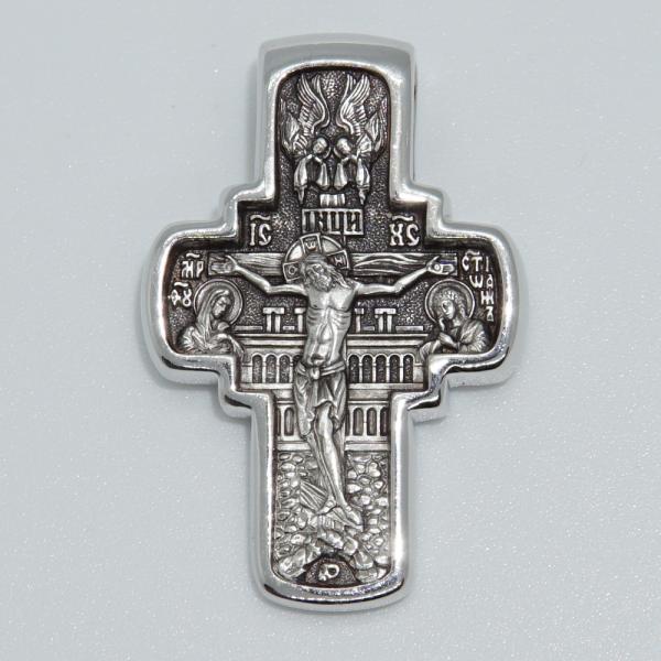 Крест православный «Вход Господень в Иерусалим» серебряный
