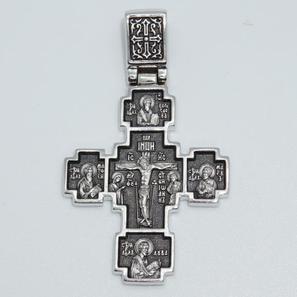 Крест православный «Вознесение Господне» серебряный