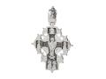 Большой мужской крест из серебра