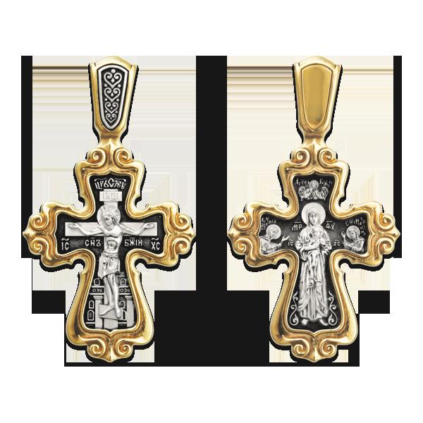 Распятие Христово Валаамская икона Пресвятой Богородицы с предстоящими свв Ксенией и Матроной Православный крест