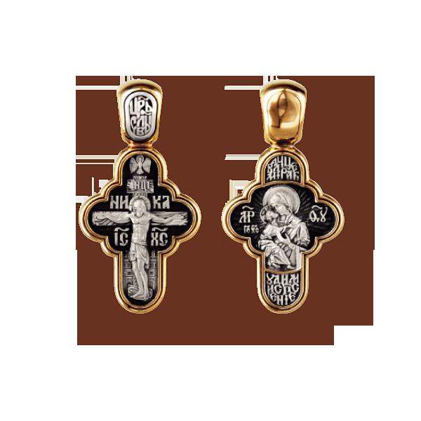 Распятие Христово Владимирская икона Божией Матери Православный крест