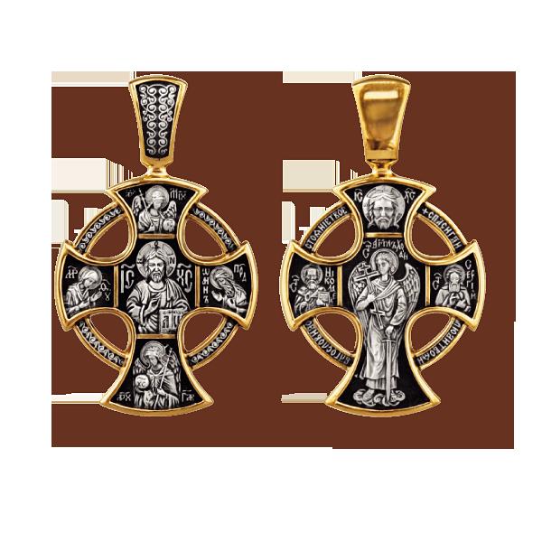 Господь Вседержитель Деисус Архангелы Михаил и Гавриил Ангел Хранитель Свт Николай Угодник Прп Сергий Радонежский Православный крест