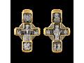 Распятие Христово с предстоящими Святая Троица Св Георгий Николай Чудотворец Архангелы Гавриил и Михаил Владимирская икона Божией Матери Православный крест