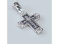 Православный крест серебряный с Покровом Пресвятой Богородицы арт А-002
