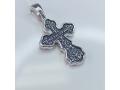 Серебряный крестик православный А-010