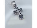 Серебряный крестик с иконой Покров Богородицы А-007