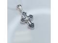 Серебряный крестик с иконой Покров Богородицы А-008