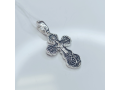 Серебряный крестик с иконой Покров Богородицы А-013