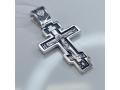 Серебряный восьмиконечный крест с молитвой кресту А-012